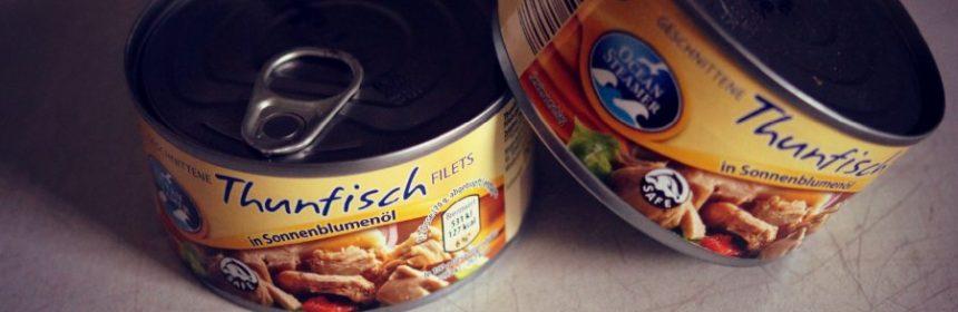 Wie Thunfisch aus der Dose essen?