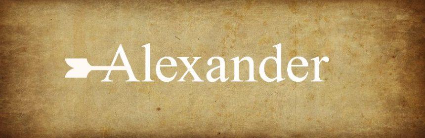 Welche Namen sind ähnlich wie Alexander?
